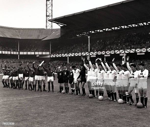 Sport/Football 1966 World Cup Finals Quarter Final Goodison Park England 23rd July 1966 Portugal 5 v North Korea 3 The Portugal team and North Korea...