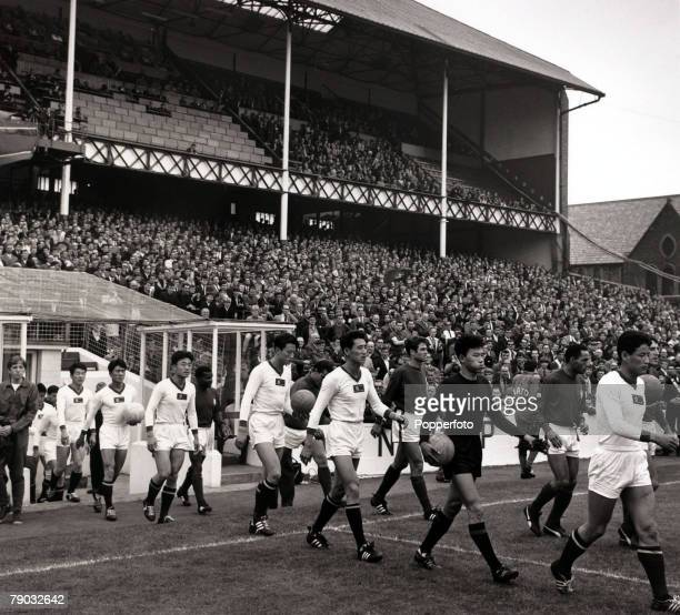 Sport/Football 1966 World Cup Finals Quarter Final Goodison Park England 23rd July 1966 Portugal 5 v North Korea 3 The underdogs from North Korea...