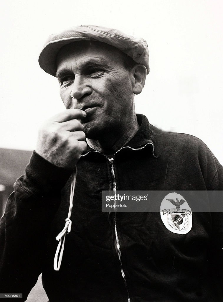 Sport/Football. 3rd April 1962. Bela Gutman the Hungarian born Coach of Portuguese champions Benfica who are to play Tottenham Hotspur in the 2nd leg Semi-Final of the European Cup at White Hart Lane. : News Photo