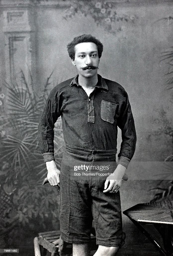 Sport/Football, circa 1896, Arthur Wharton, a goalkeeper of some note, who played for Preston North End and Rotherham United : News Photo