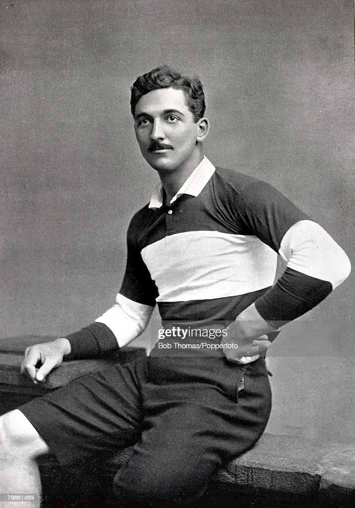 Sport/Football, circa 1896, Charles Burgess Fry, (C,B,Fry) one of the best all round sportsmen ever, who was a successful footballer, cricketer and rugby union player, He was also a champion long jumper