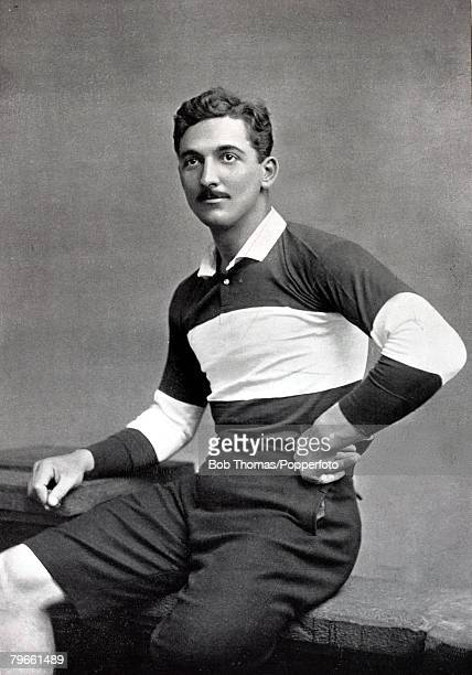 Sport/Football circa 1896 Charles Burgess Fry one of the best all round sportsmen ever who was a successful footballer cricketer and rugby union...
