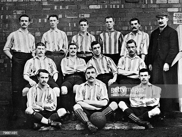 Sport/Football circa 1896 Sheffield Wednesday Back row lr ALangley JMassey LBell TCrawshaw JJamison WJohnson Middle row HBrandon RPetrie MJEarp...
