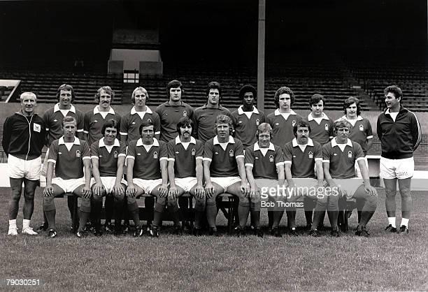 Sport/Football England Nottingham Forest FC Back row LR Jimmy Gordon Paul Richardson Ian Bowyer Liam O'Kane Dennis Peacock John Middleton Viv...