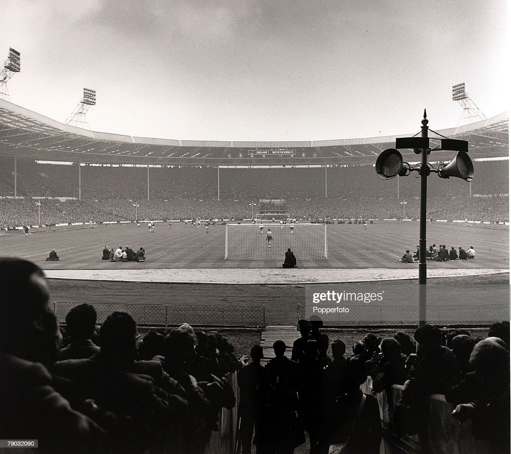 Sport/Football. F.A.Centenary Match. Wembley, London, England. 23rd October 1963. England 2 v Rest of the World 1. A misty autumn day for the showpiece game played in a modernised Wembley Stadium. : News Photo