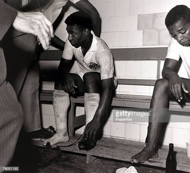 Sport/Football in South America Brazil's Pele is pictured after a game in the changing room Pele was quite possibly the best footballer ever coming...