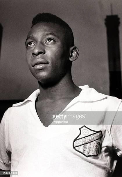 Sport/Football in South America circa 1960 Pele pictured in his Santos club strip Pele was quite possibly the best footballer ever coming to...