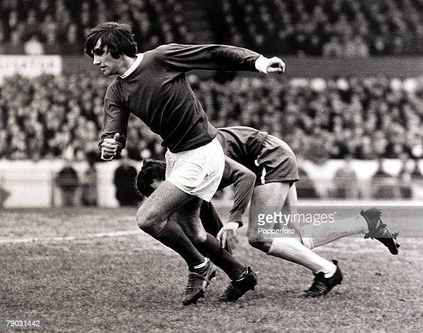 Sport/Football League Division One Stamford Bridge London England 12th February 1966 Chelsea v Manchester United Manchester United's George Best...