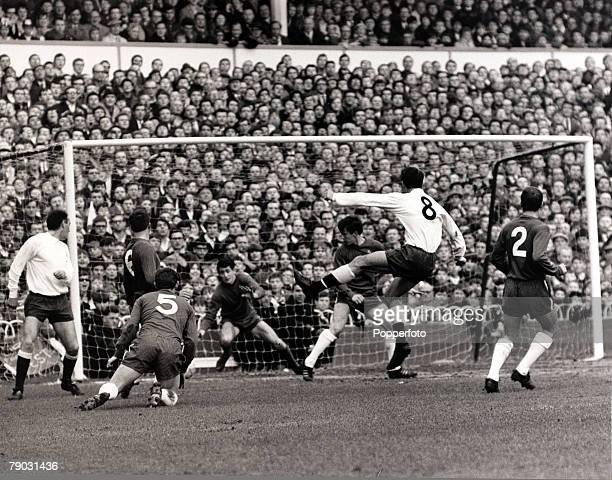 Sport/Football League Division One White Hart Lane London England 20th March 1967 Tottenham Hotspur v Chelsea Tottenham Hotspur's Jimmy Greaves...