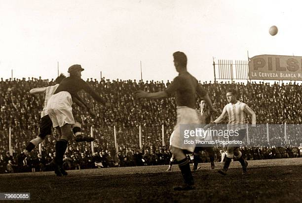 Sport/Football Motherwell Football Club on tour in Argentina May and June 1928 Photo shows Argentina Uruguay Select XI 0 v Motherwell 3 June 3rd 1928...