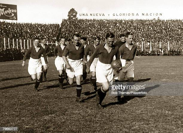 Sport/Football Motherwell Football Club on tour in Argentina May and June 1928 Photo shows Buenos Aires Select XI 1 v Motherwell 0 at the River Plate...