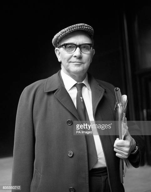 Sporting a cap Mr Jack Jones of the Transport and General Worker's Union arrives this morning for a meeting with the chief of British Leyland Lord...