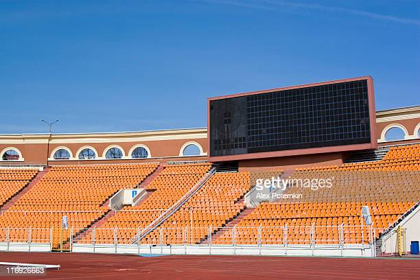 sporting area: information board on the stadium - scoring stock pictures, royalty-free photos & images