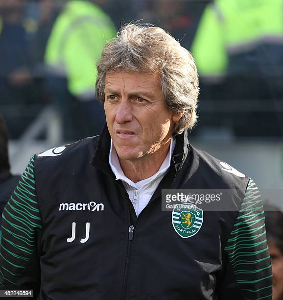 Sporting Club de Portugal coach Jorge Jesus during the 2015 Cape Town Cup Final match between Crystal Palace FC and Sporting Lisbon at Cape Town...