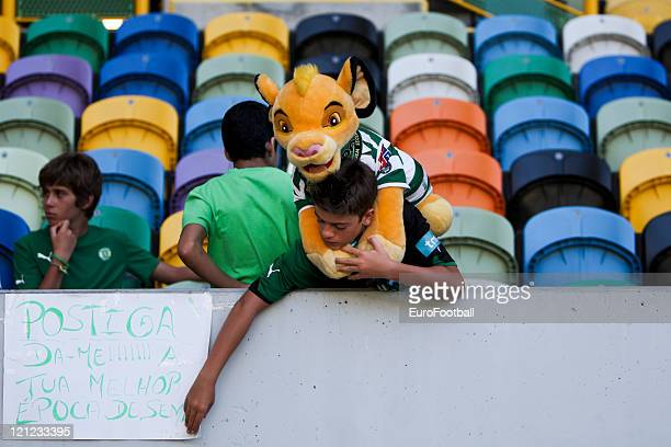 A Sporting Clube de Portugal Fan before the Portuguese Primeira Liga ZON Sagres match between Sporting Lisbon and Olhanense at the Alvalade Stadium...