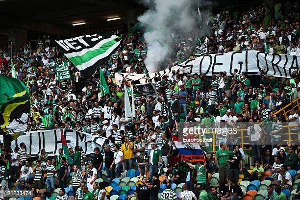 Sporting Clube de Portugal fans before the Portuguese Primeira Liga ZON Sagres match between Sporting Lisbon and Olhanense at the Alvalade Stadium on...