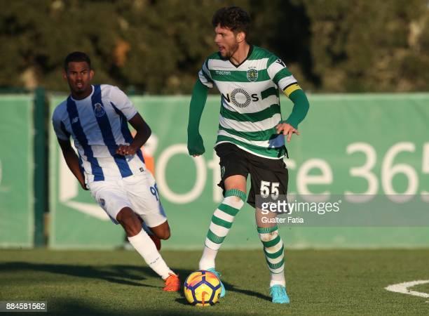 Sporting CP B defender Tobias Figueiredo in action during the Segunda Liga match between Sporting CP B and FC Porto B at CGD Stadium Aurelio Pereira...