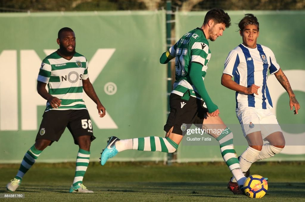 Sporting CP B defender Tobias Figueiredo in action during the Segunda Liga match between Sporting CP B and FC Porto B at CGD Stadium Aurelio Pereira on December 2, 2017 in Alcochete, Portugal.
