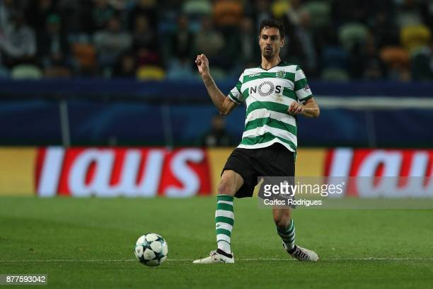 Sporting CP defender Andre Pinto from Portugal during the UEFA Champions League match between Sporting CP and Olympiakos Piraeus at Estadio Jose...