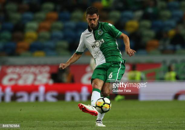 Sporting CP defender Andre Pinto from Portugal in action during the Portuguese League Cup match between Sporting CP and CS Maritimo at Estadio Jose...