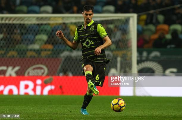 Sporting CP defender Andre Pinto from Portugal in action during the Portuguese Cup match between Sporting CP and Vilaverdense at Estadio Jose...