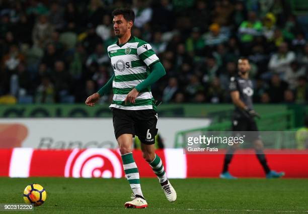 Sporting CP defender Andre Pinto from Portugal in action during the Primeira Liga match between Sporting CP and CS Maritimo at Estadio Jose Alvalade...