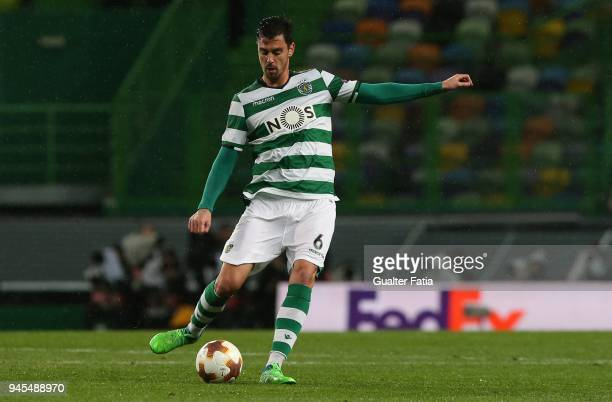 Sporting CP defender Andre Pinto from Portugal in action during the UEFA Europa League Quarter Final Leg Two match between Sporting CP and Club...