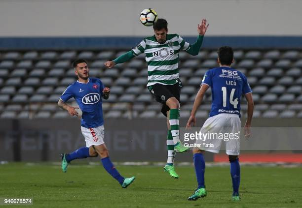 Sporting CP defender Andre Pinto from Portugal in action during the Primeira Liga match between CF Os Belenenses and Sporting CP at Estadio do...