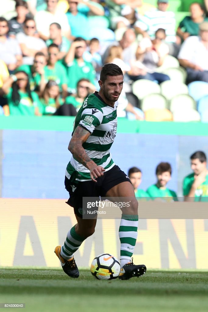 Sporting CP defender Cristiano Piccini from Italy in action during the Trophy Five Violins 2017 final football match Sporting CP vs ACF Fiorentina at Alvadade stadium in Lisbon, Portugal on July 29, 2017.