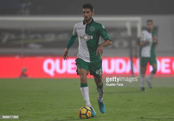 Sporting CP defender Cristiano Piccini from Italy in action during the Portuguese League Cup match between CF Os Belenenses and Sporting CP at...