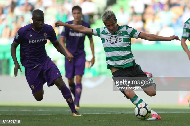 Sporting CP defender Fabio Coentrao from Portugal during the Five Violins Trophy match between Sporting CP and AC Fiorentina at Estadio Jose Alvalade...