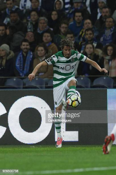 Sporting CP defender Fabio Coentrao from Portugal during the Portuguese Primeira Liga match between FC Porto and Sporting CP at Estadio do Dragao on...