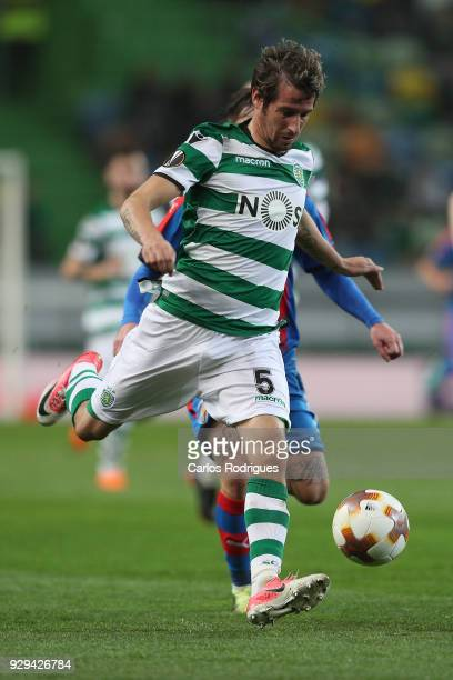 Sporting CP defender Fabio Coentrao from Portugal during the match between Sporting Lisbon CP v FC Viktoria Plzen for the UEFA Europa League Round of...