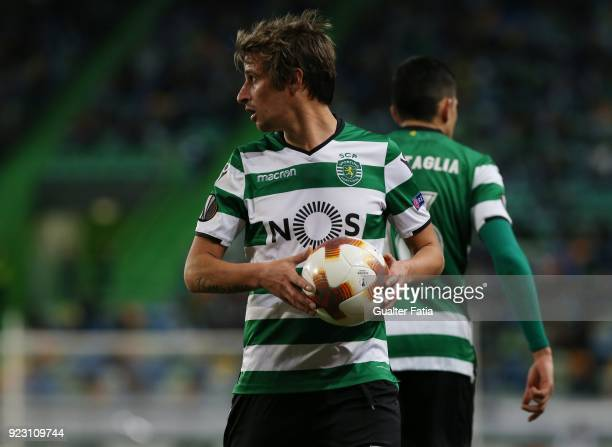 Sporting CP defender Fabio Coentrao from Portugal during the UEFA Europa League match between Sporting CP and FC Astana at Estadio Jose Alvalade on...
