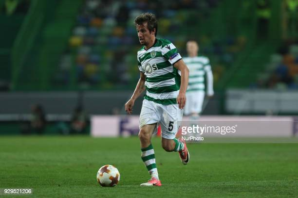 Sporting CP defender Fabio Coentrao from Portugal during the UEFA Europa League match between Sporting CP and FC Viktoria Plzen at the Estadio Jose...