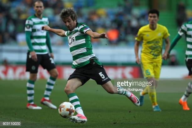 Sporting CP defender Fabio Coentrao from Portugal during UEFA Europa League Round of 32 match between Sporting Lisbon and FC Astana at the Estadio...