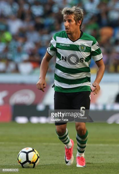 Sporting CP defender Fabio Coentrao from Portugal in action during the Primeira Liga match between Sporting CP and GD Estoril Praia at Estadio Jose...