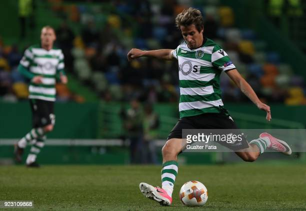 Sporting CP defender Fabio Coentrao from Portugal in action during the UEFA Europa League match between Sporting CP and FC Astana at Estadio Jose...