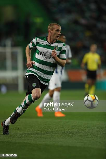 Sporting CP defender Jeremy Mathieu from France during the Sporting CP v FC Porto Portuguese Cup semi finals 2 leg at Estadio Jose Alvalade on April...
