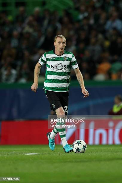Sporting CP defender Jeremy Mathieu from France during the UEFA Champions League match between Sporting CP and Olympiakos Piraeus at Estadio Jose...