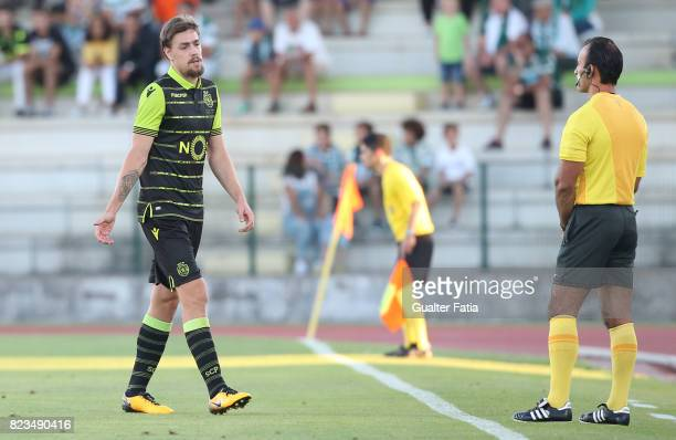 Sporting CP defender Sebastian Coates from Uruguay reaction after receiving a red card during PreSeason Friendly match between Sporting CP and...