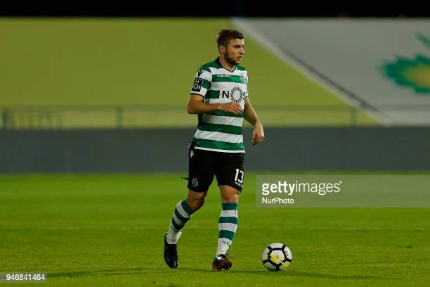 Sporting CP Defender Stefan Ristovski from Macedonia during the Premier League 2017/18 match between CF Os Belenenses v Sporting CP at Estadio do...