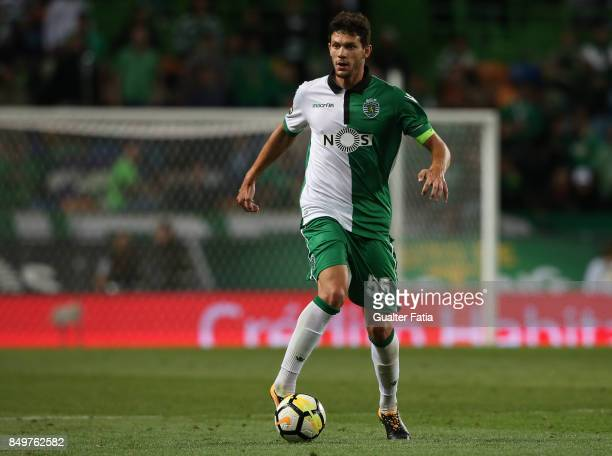 Sporting CP defender Tobias Figueiredo from Portugal in action during the Portuguese League Cup match between Sporting CP and CS Maritimo at Estadio...