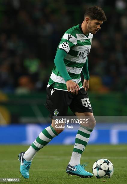 Sporting CP defender Tobias Figueiredo from Portugal in action during the UEFA Champions League match between Sporting Clube de Portugal and...