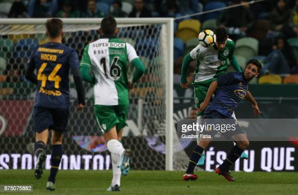 Sporting CP defender Tobias Figueiredo from Portugal with Famalicao midfielder Rui Costa from Portugal in action during the Portuguese Cup match...