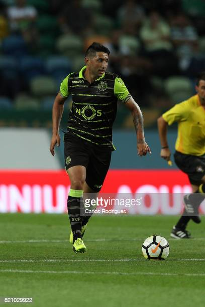 Sporting CP forward Alan Ruiz from Argentina during the Friendly match between Sporting CP and AS Monaco at Estadio Jose Alvalade on July 22 2017 in...