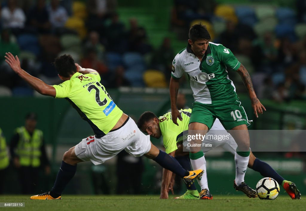 Sporting CP forward Alan Ruiz from Argentina in action during the Portuguese League Cup match between Sporting CP and CS Maritimo at Estadio Jose Alvalade on September 19, 2017 in Lisbon, Portugal.