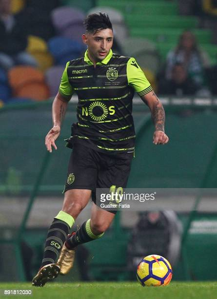 Sporting CP forward Alan Ruiz from Argentina in action during the Portuguese Cup match between Sporting CP and Vilaverdense at Estadio Jose Alvalade...