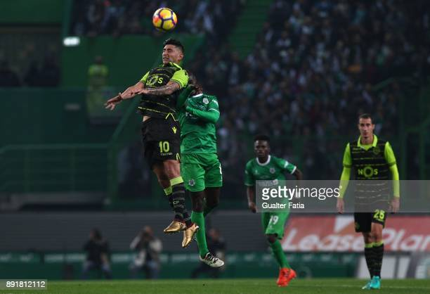 Sporting CP forward Alan Ruiz from Argentina with Vilaverdense FC midfielder Ibraima So in action during the Portuguese Cup match between Sporting CP...
