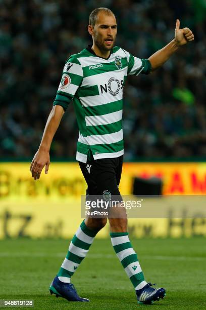Sporting CP Forward Bas Dost from Netherlands during the Sporting CP v FC Porto Portuguese Cup semi finals 2 leg at Estadio Jose Alvalade on April 18...